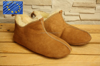 Genuine SHEEPSKIN high SLIPPERS Natural LEATHER Home Shoes OEM sevice