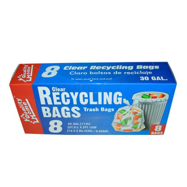 Garbage Bag Box Clear Recycle 30G 8CT