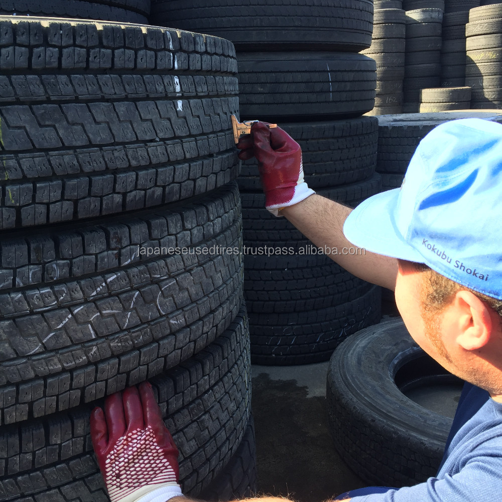 Japanese High Quality Major Brands heavy duty used trucks tires and tire casings, Various Grades Available