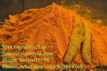 Pure natural organic turmeric curcumin powder in stock