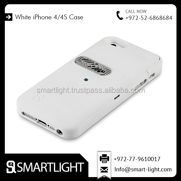 Mobile Protective White Cover Lighter Case For iPhone 4/4S