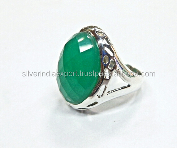 Beautiful onyx green 925 sterling silver rings