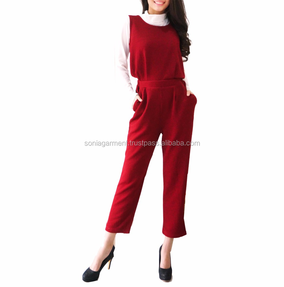 hot latest design Fashion long sleeve fomal women jumpsuit for wholesale