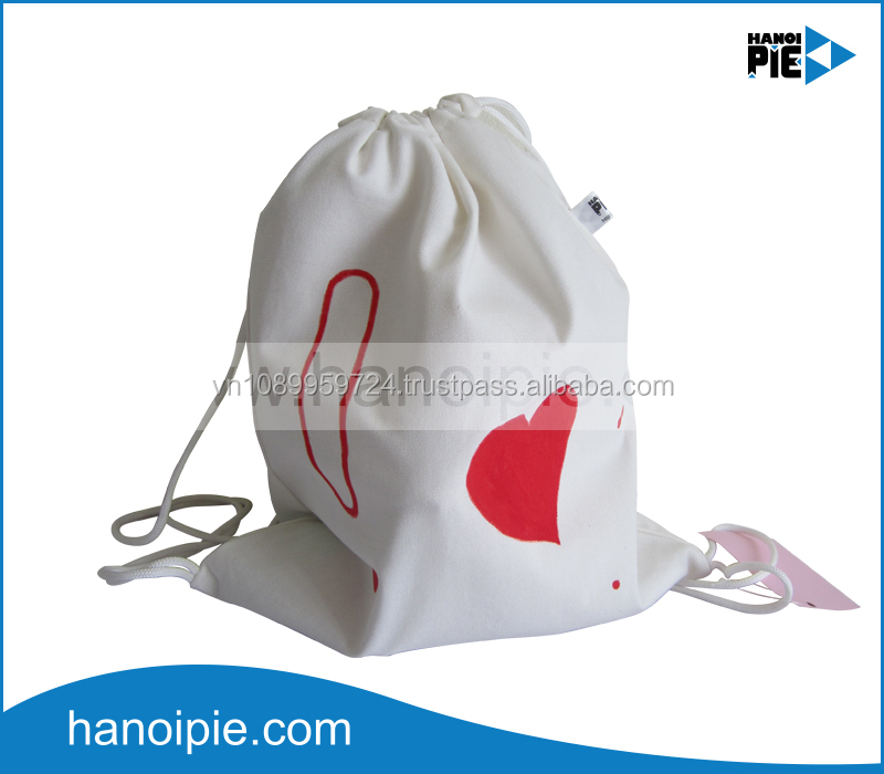 Custom all kinds of organic cotton gift bags wholesale with drawstring cotton canvas bag