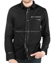 BIKER EMO GOTHIC GOTH ROCK TATTOO LEATHER WOVEN SHIRT FC-8395