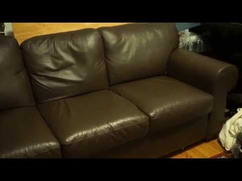 Get Quotations · Ikea Leather Sofa EKTORP?) Overview