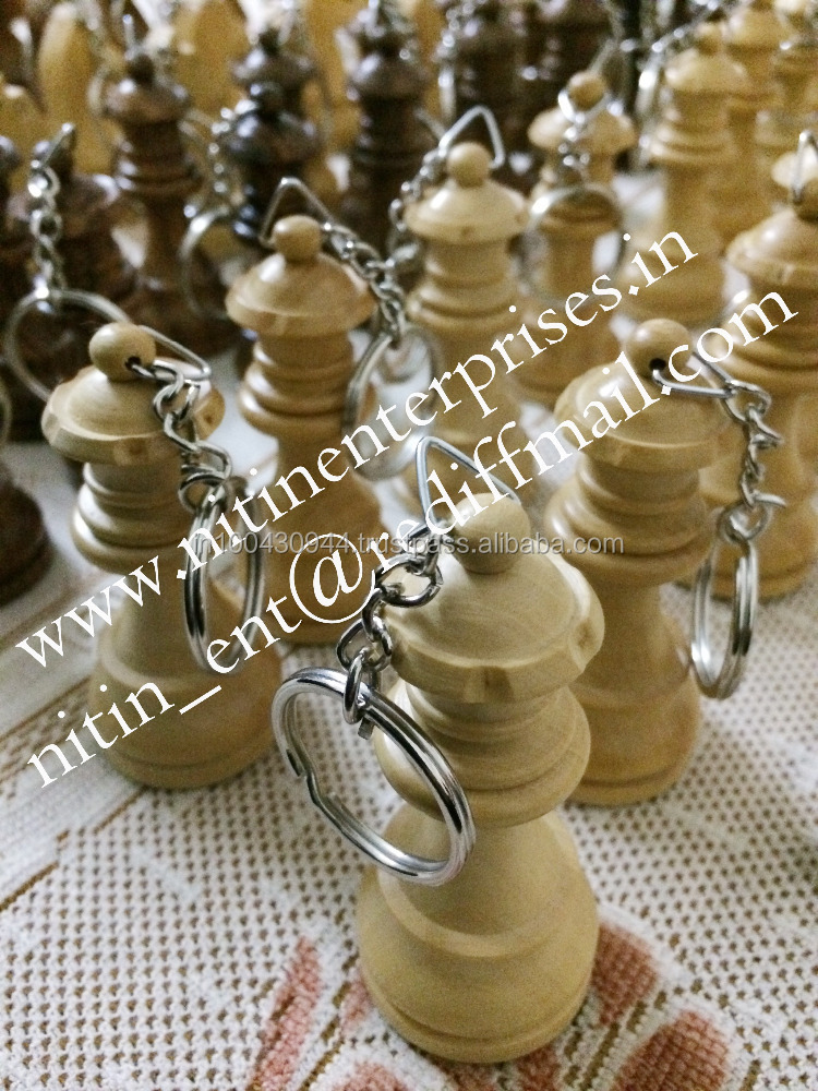 KKC1- wooden chess key chains