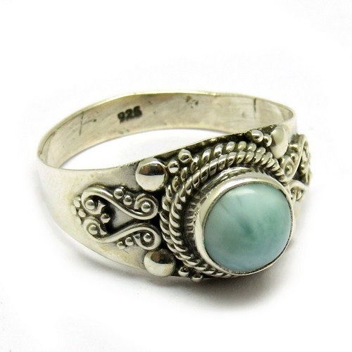 Larimar 925 Sterling Silver Sky Blue Ring For Men, Exparted Sterling Silver Jewelry Ring, Designe Silver Jewelry