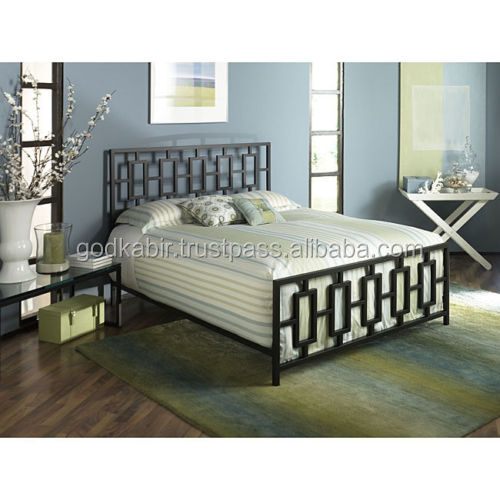 Black Queen Size Bed Frame Bedroom Furniture/ Modern and high quality wood beds