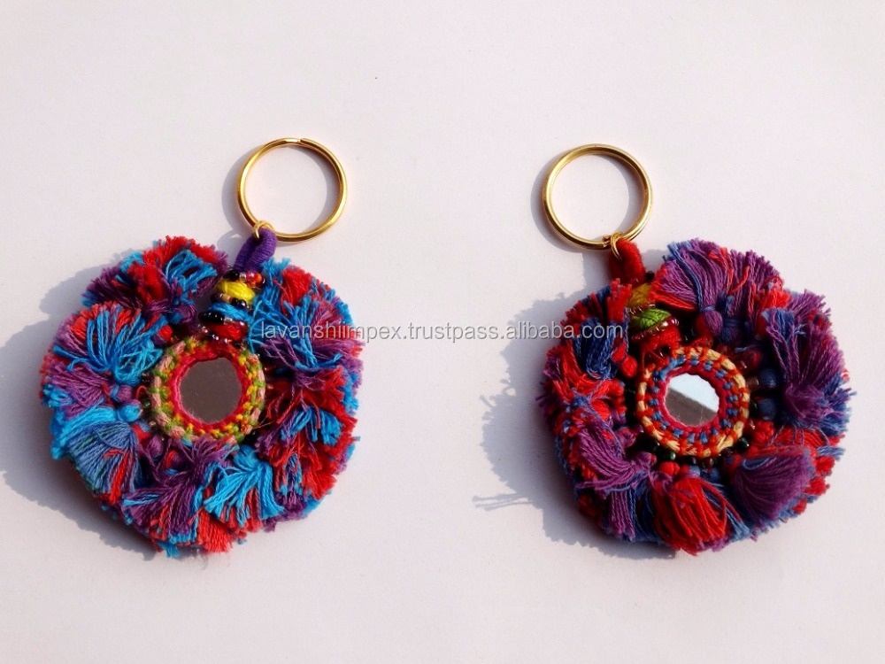 BANJARA KEY CHAINS, TASSEL fringe ,wholesale tassel fringe