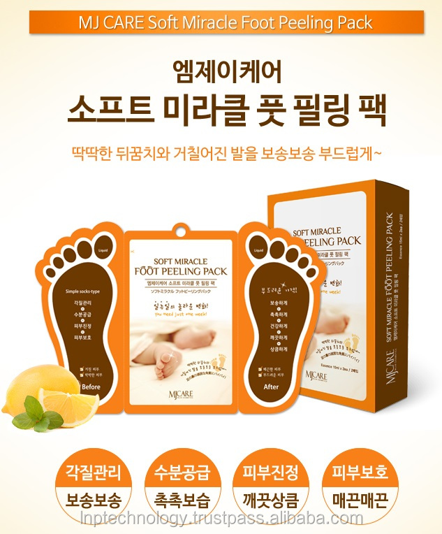 MJ Care Korea, SOFT MIRACLE FOOT PEELING PACK, Made in Korea, OEM possible