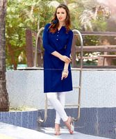 Royal Blue Color Casual Pure Cotton Kurti