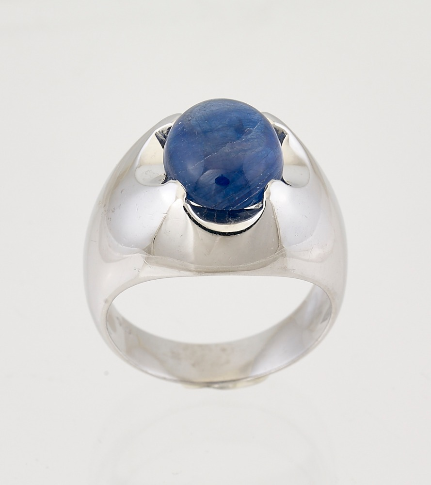 Stone Jewelry 3.CT Blue Sapphire 925 Silver Sterling 9K White Gold Rings Size 5-13 Diamond &Gems