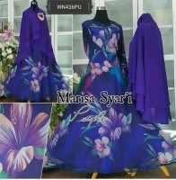Beautiful Chiffon Abaya With Hijab 2