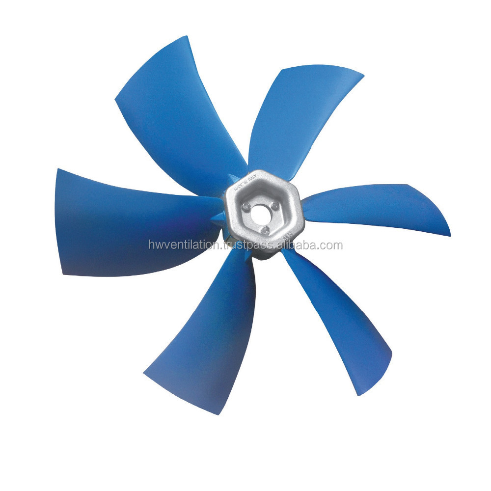 ANTISTATIC, SELF-EXTINGUISHING, MAGNETICALLY-SHIELDED ATEX SICKLE PROFILE AXIAL IMPELLER