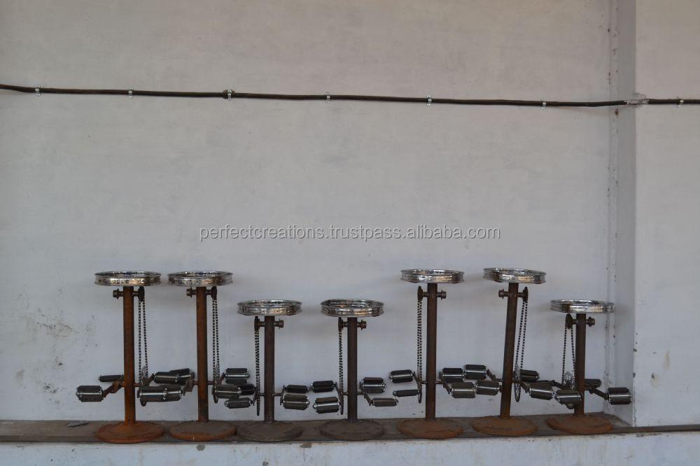 Vintage industriale anello ciclo sgabello da bar con poggiapiedi