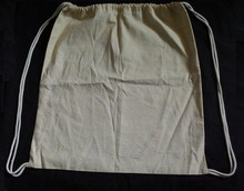 Natural Cotton Drawstring Bag