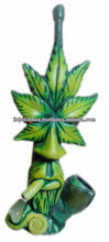 Figurine Shaped Hand Crafted Smoking Pipes - MJ The Leaf Man
