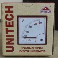 Unitech Moving Iron Type Volt Meter - Analog Meter 52mm