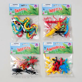 BUGS/REPTILES PLASTIC 8CT/8AST MIX & MATCH BUG/REPTILES #G16857