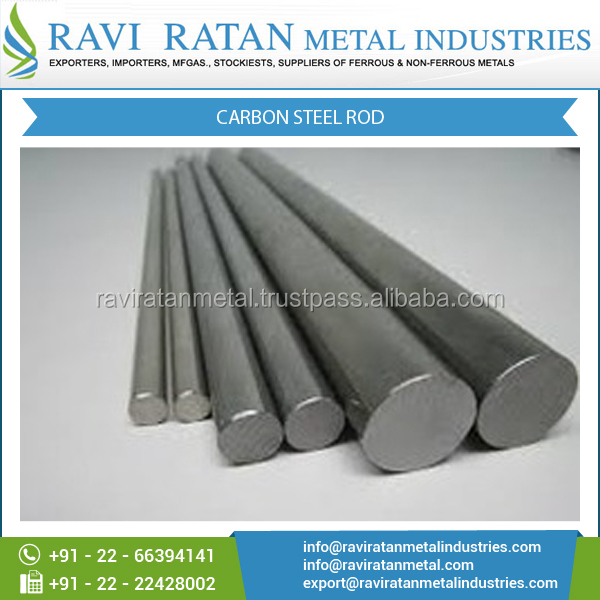 Dimensionally Accurate Rust Proof Carbon Steel Rod at Leading Market Price