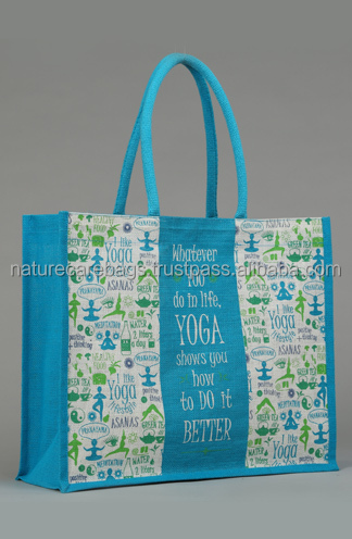 ecological popular antique foldable jute shopping bag/Promotional jute bag with webbing cord handle