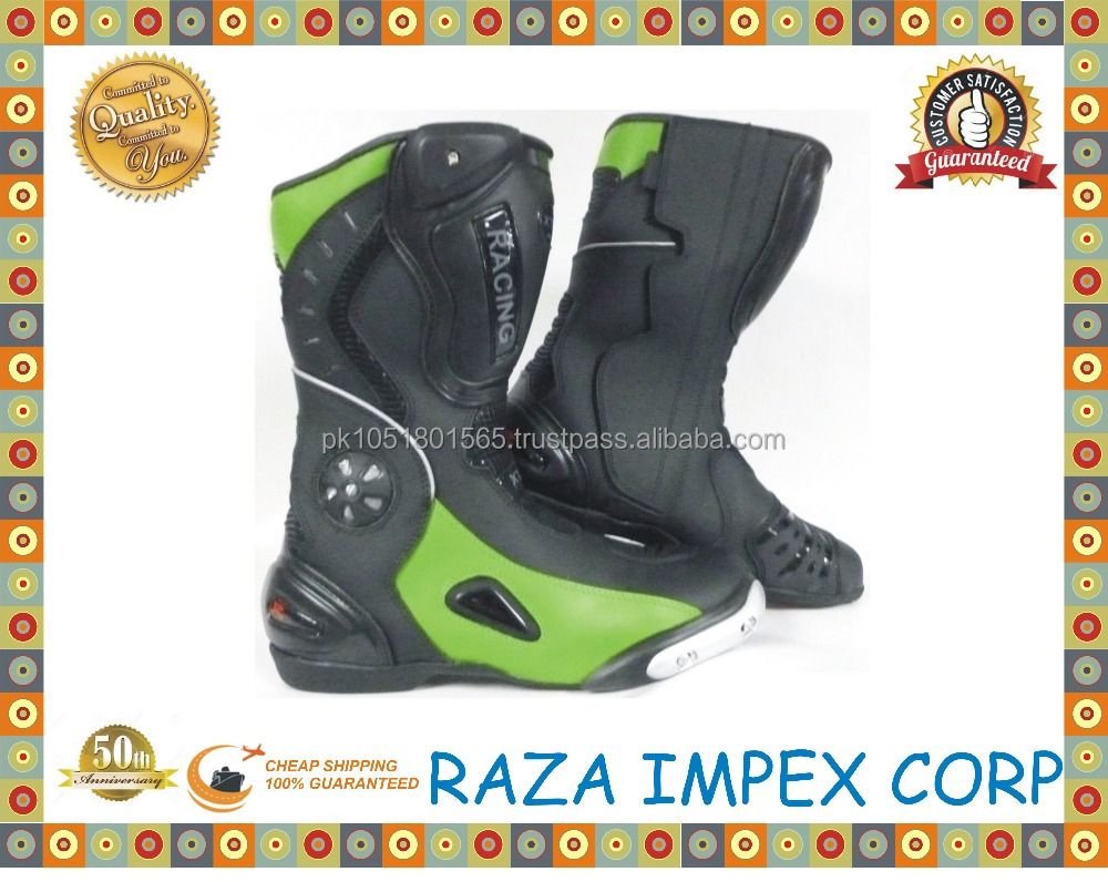 New Model Motorcycle Zipper Cowhide Harley Boots Martin Shoes Protective Racing Boots