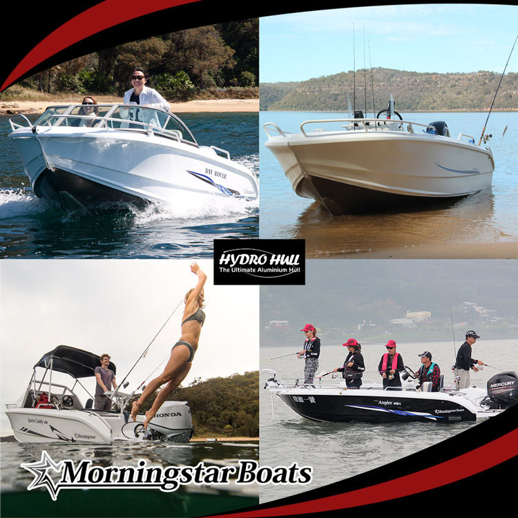 5m Aluminum Small Runabout Speed Yachts With Windshield For Sale