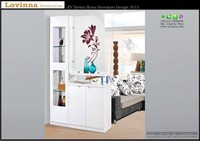 Malaysia divider cabinet, Singapore divider cabinet, Living Room divider cabinet model 2016, divider & display cabinet, white