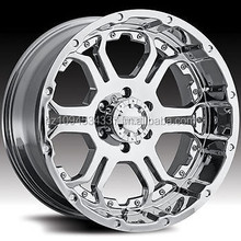 WHEELS FOR CAR 17x9 Chrome Gear Alloy Recoil 6x5.5 +25 Wheels Open Country AT II P285/70R17