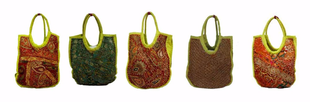 Indian Hand Made Bag Purse HandBag Vintage Work Art Embroidered And Bead Work Bags In Different Colors