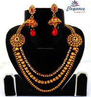 Bollywood Style Gold Plated String Style Jewelry-Online Buy Wholesale One Gram Gold Jewellery-Fashion South Indian Jewelry