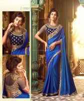 Heavy lacha lehenga style saree / Designer indian saree low prices / Fancy saree blouse designs