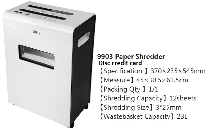 paper-disc & credit card shredder