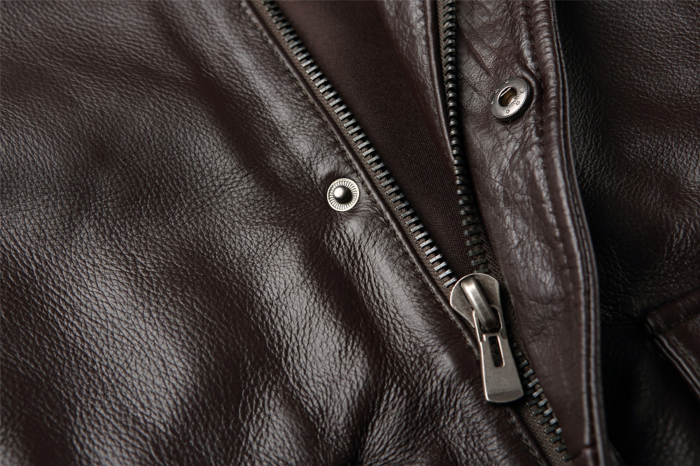 China Wholesale High Quality Men Brown Leather Jackets