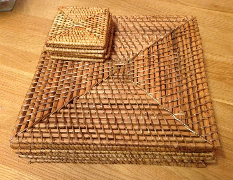 Square Rattan Placemats / Coasters