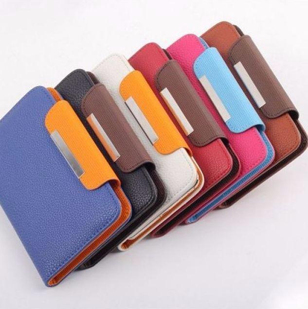 Leather Flip Case Cover Skin Holster Bumper for iPhone 5 5S 5C