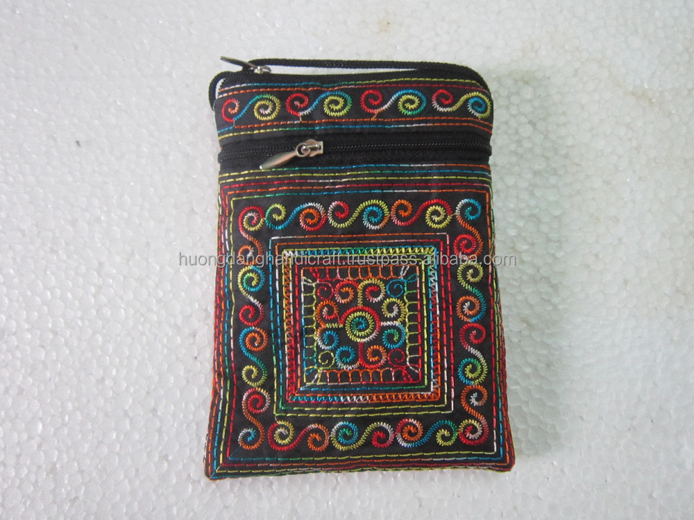 Brocade Bag for Smart Phone, Small Brocade Shoulder Bag- Type of Phone case Handmade in Vietnam