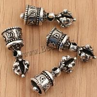 Buddhist Jewelry Pendant Thai Sterling Silver Bell om mani pad 8x20mm Hole:Appr 1.5mm 3PCs/Bag Sold By Bag