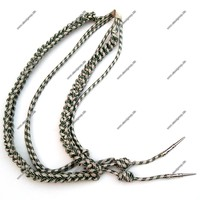 Uniform Accessories Aiguillettes Silver and Green | Military Uniform Aiguillettes With Metal Accessories | Military Aiguillette