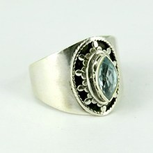 Love Power Blue Topaz 925 Sterling Silver Ring, 925 Silver Jewelry, Silver Jewellery Wholesaler