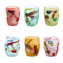 Murano Glass 6 Drinking Glasses - Fruit Goto - Mixed colors