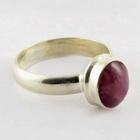 Stylish !! Star Ruby 925 Sterling Silver Bezel Setting Ring, All Over World Shipping, 925 Gemstone Rings