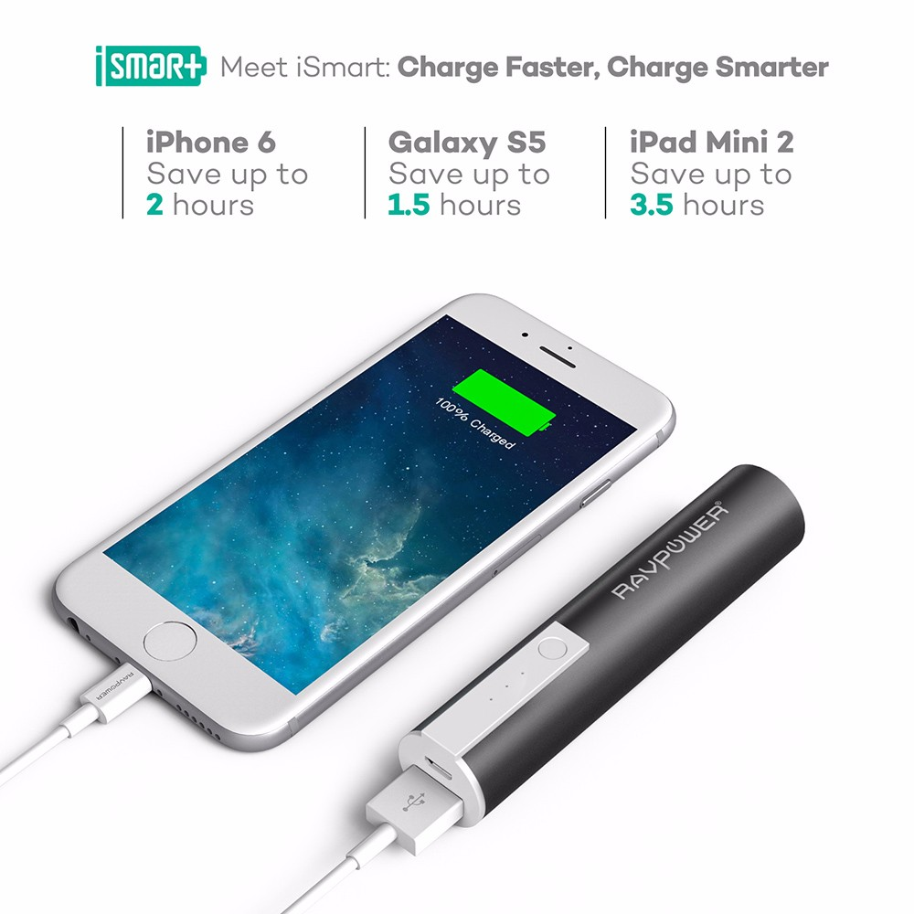 RAVPower RP-PB33 3350mAh Portable Charger Power Bank for Smartphones & Tablets