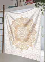 large exclusive original gold mandala tapestry by Raajsee
