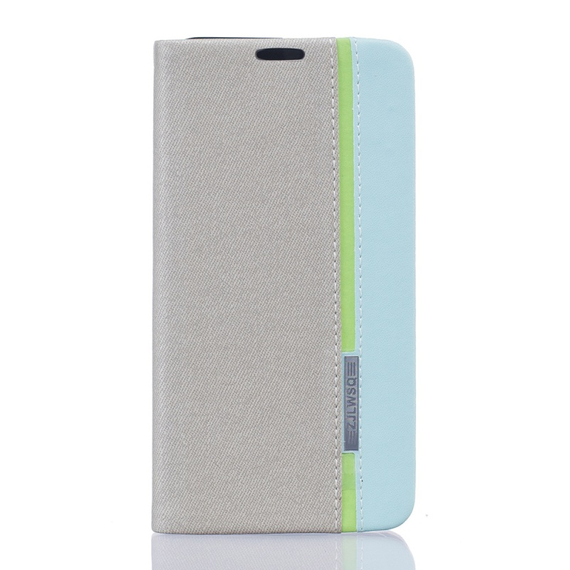Assorted Color Leather Card Holder Stand Cover for Vodafone Smart prime 7 - Grey