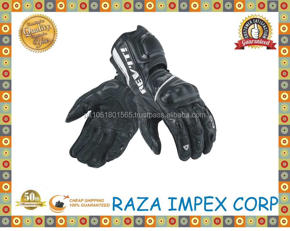 Leather Custom Made Motorcycle Gloves/ Motorcross GLoves /Motorbike leather racing Gloves