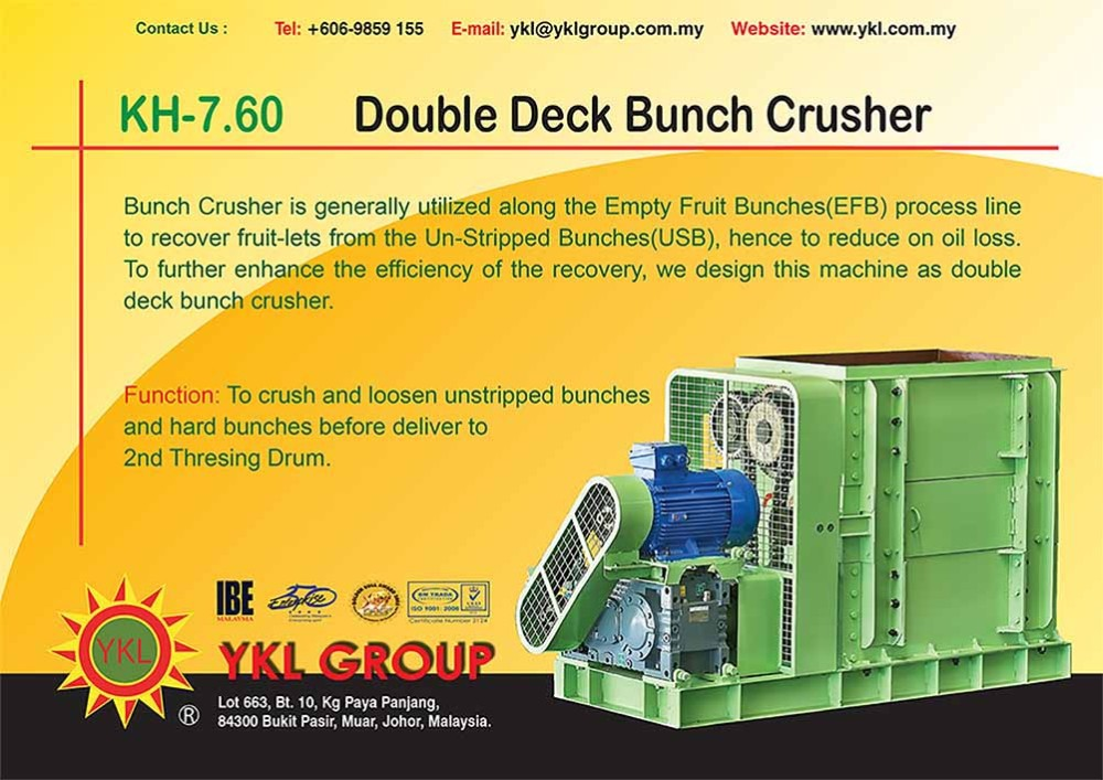 Double Deck Bunch Crusher