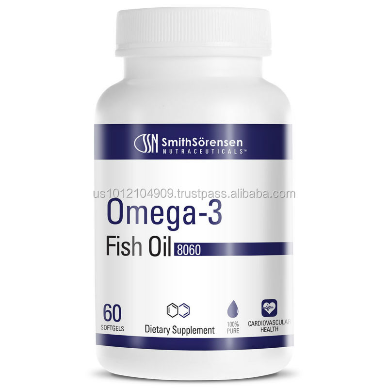 Private Label Dietary Supplement Softgel Capsules Omega 3 Fish Oil