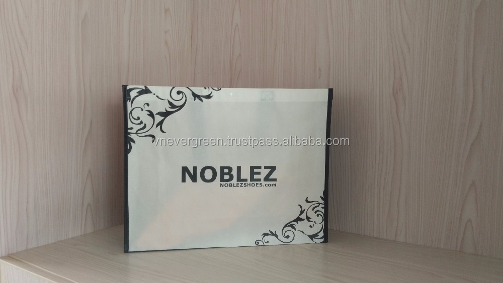 Vietnam Made Custom Reusable PP Non Woven Shopping Carrier Bag